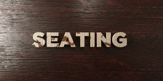 Seating - grungy wooden headline on Maple  - 3D rendered royalty free stock image. This image can be used for an online website banner ad or a print postcard Royalty Free Illustration