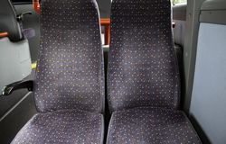 Bus seats interior royalty free stock images