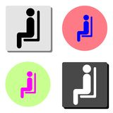Seating man. flat vector icon stock illustration