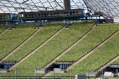Seating in Munich olympic stadium 1 Stock Photo