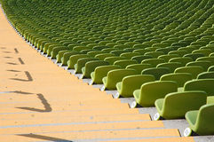 Seating olympic stadium. Seating at munich olympic stadium, 1972 Olympic Summer Games Royalty Free Stock Photos