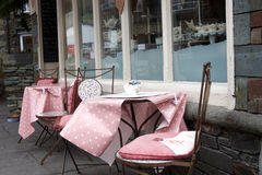 Seating outside the tea room Royalty Free Stock Photography