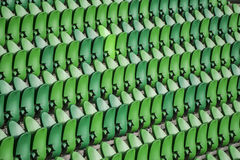 Seating rows in a stadium with weathered chairs Royalty Free Stock Photography