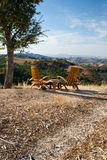 Seating for Two in California wine country Stock Photography