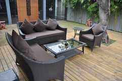 Seatings in yard Royalty Free Stock Photo