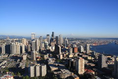Seatle with Mount Rainer Stock Photos