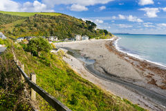 Seaton Beach Cornwall England photos libres de droits