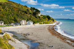 Seaton Beach Cornwall England images libres de droits