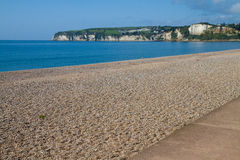 Seaton beach Devon England. Seaton beach in Devon England.  It is on the south coast of England and near to the the holiday town of Beer. It is on the Jurassic Stock Photos