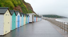 Seaton. Beach huts in Seaton, Devon Royalty Free Stock Image