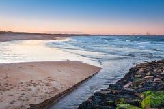 Seaton Burn Meets The North Sea Royalty Free Stock Photography