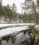 Seaton Creek, Michigan, Winter Royalty Free Stock Image