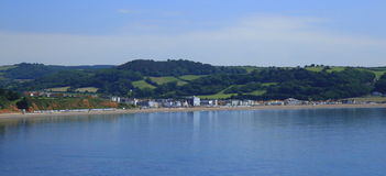 Seaton on Jurassic Coast. Town Seaton on Jurassic Coast in Devon Royalty Free Stock Images