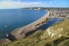 Seaton. Jurassic Coast in town of Seaton in East Devon, England Stock Images