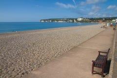 Seaton plażowy Devon Anglia Zdjęcia Stock
