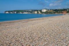 Seaton plażowy Devon Anglia Obraz Royalty Free