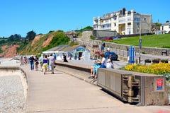 Seaton promenade. royalty free stock photography