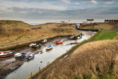 Seaton Sluice inner harbour Stock Image