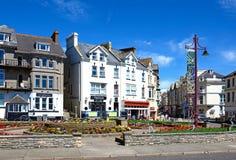 Seaton town centre. Royalty Free Stock Photo