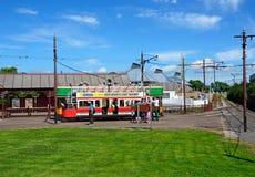 Seaton tram station. stock photo