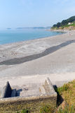 Seatonstrand Cornwall dichtbij Looe Engeland, het Verenigd Koninkrijk Royalty-vrije Stock Foto