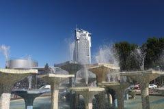 Seatower在格丁尼亚,波兰 免版税库存图片