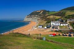 Seatown, Dorset, Regno Unito fotografie stock libere da diritti
