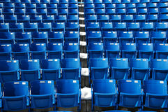 Seats. Rows of seats in a theater with snow Royalty Free Stock Photos