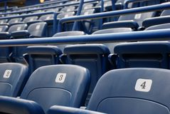 Seats. Stadium or theater blue seats Royalty Free Stock Image