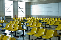 Seats at the airport Stock Image