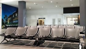 Seats at the airport Stock Photography