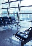 Seats in the airport Stock Photos