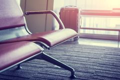 Seats in the airport lounge. Stock Photos