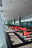 Seats in airport Stock Photos
