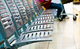 Seats at the airport in waiting lounge Royalty Free Stock Photos