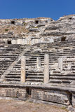 Seats in amphitheater in Miletus Stock Photo