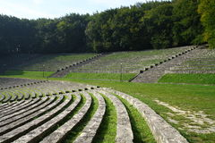 Seats in amphitheatre Royalty Free Stock Image