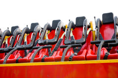 Seats in amusement park. Seats of ride in amusement park Royalty Free Stock Photo
