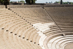 Seats in Ancient Amphitheater Royalty Free Stock Photo