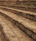The seats of ancient greek theater ... Royalty Free Stock Image