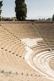 Seats in Ancient Pompeii Aphitheater Royalty Free Stock Images