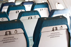 Seats of an annuated airplane. Old seats of an annuated airplane royalty free stock image