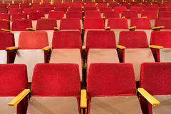 Seats of auditorium Royalty Free Stock Image
