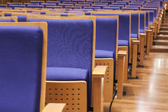 Seats in Auditorium hall perspective Royalty Free Stock Photography
