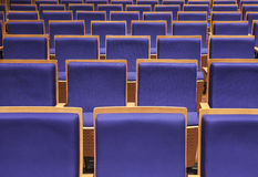 Seats in auditorium Royalty Free Stock Photo