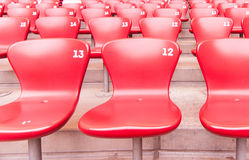 Seats Available. A row of empty seats in stadium Royalty Free Stock Photos