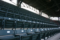 Seats at baseball stadium Royalty Free Stock Images