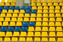 Seats in basketball stadium . Stock Images