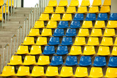 Seats in basketball stadium . Royalty Free Stock Photos