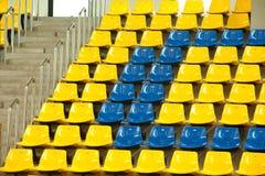 Seats in basketball stadium . Royalty Free Stock Photos